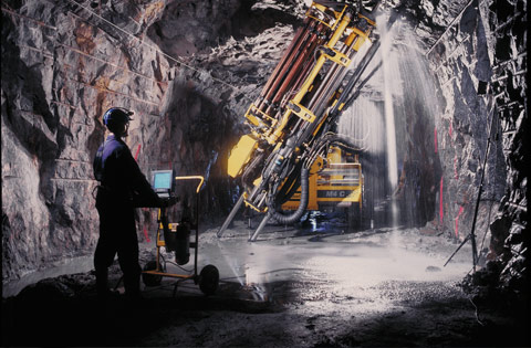 Hydraulic Production Drill, Courtesy: Atlas Copco